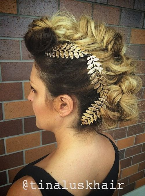 30 fishtailed mohawk updo