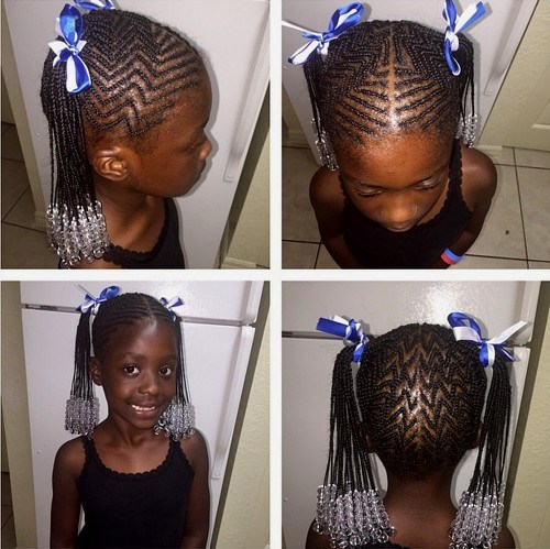 37 African American girls braided hairstyle