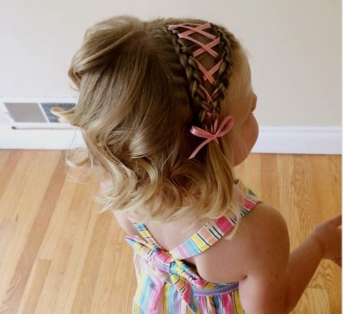 39 braided headband hairstyle for little girls