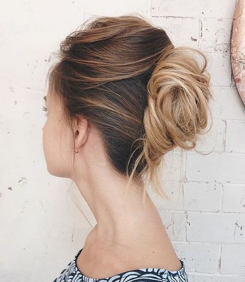 4 french twist for tousled hair