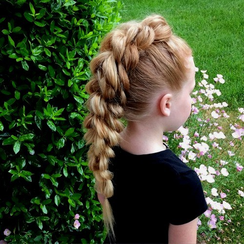40 braided Mohawk for little girls