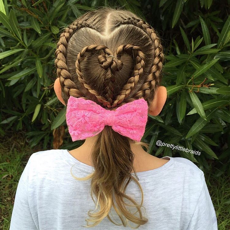 6 braided hairstyle with a ponytail