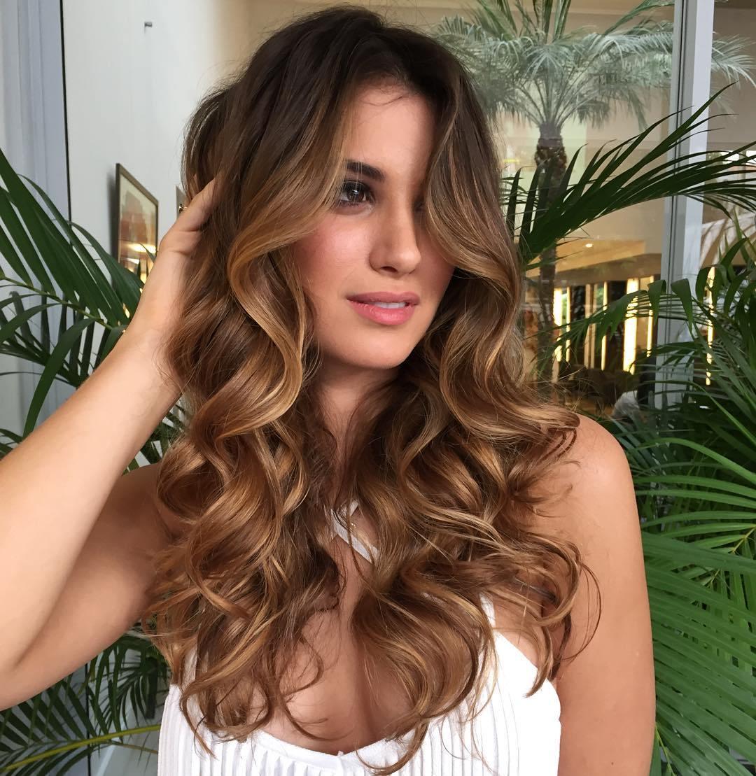 6 light brown balayage curly hair