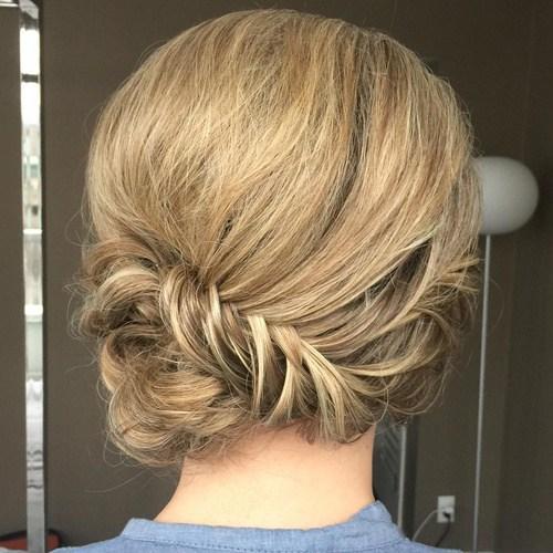 7 updo with fishtail braid for medium hair