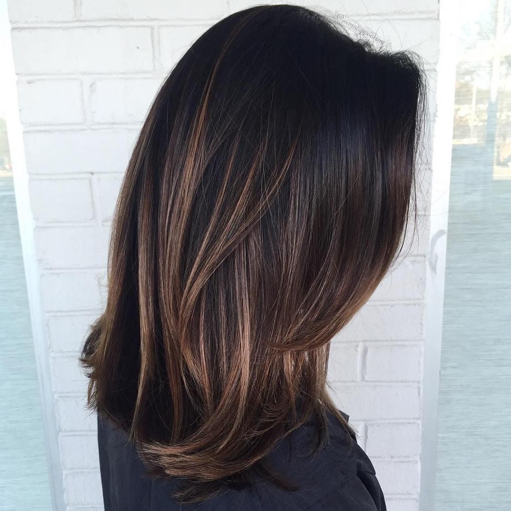 8 brown balayage for black hair