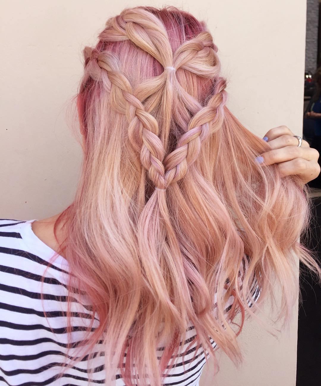 8 easy braided half updo for long hair