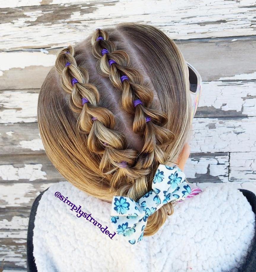 8 updo with pullthrough braids