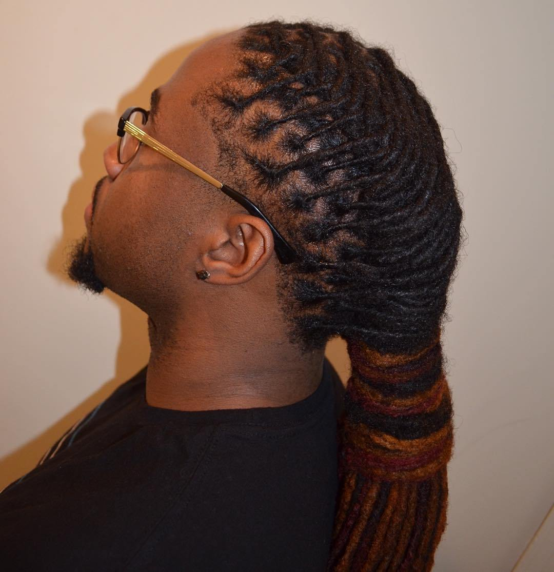 9 wrapped ponytail for thin dreadlocks