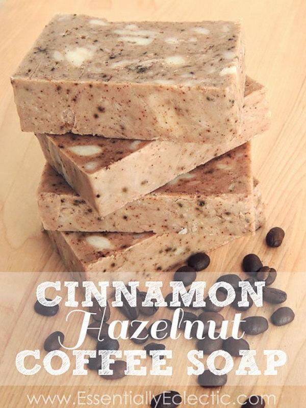 1 DIY Cinnamon Hazelnut Coffee Soap