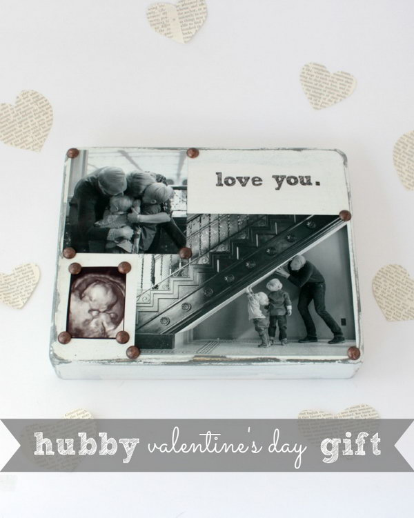 1 DIY Photo block filled with special messages and significant photos