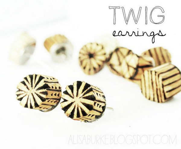 1 DIY Twig Earrings