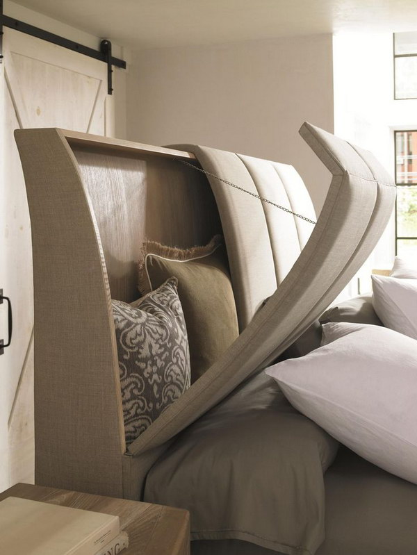 22 cool headboards with storage foliver blog. Black Bedroom Furniture Sets. Home Design Ideas