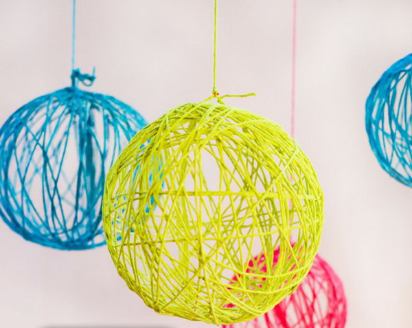 1 Neon Yarn Chandelier