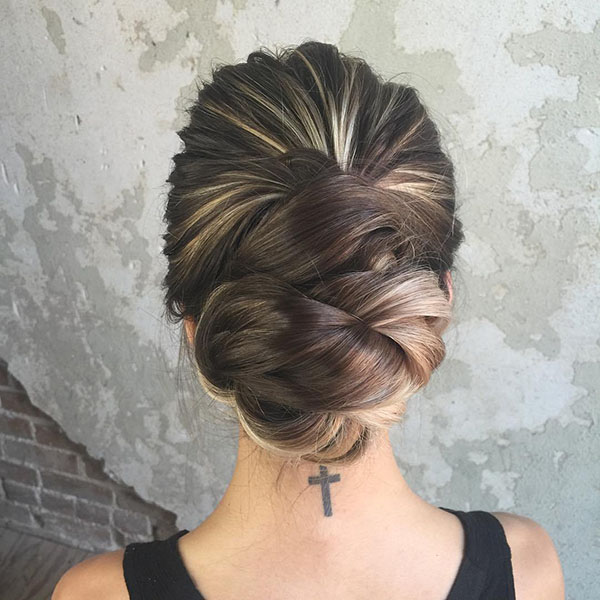 1 formal updo for long hair