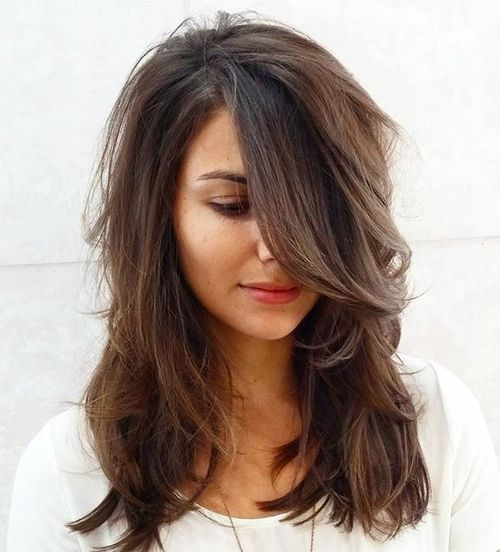 1 medium layered haircut for thick hair
