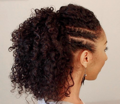 1 pony hairstyle for curly hair