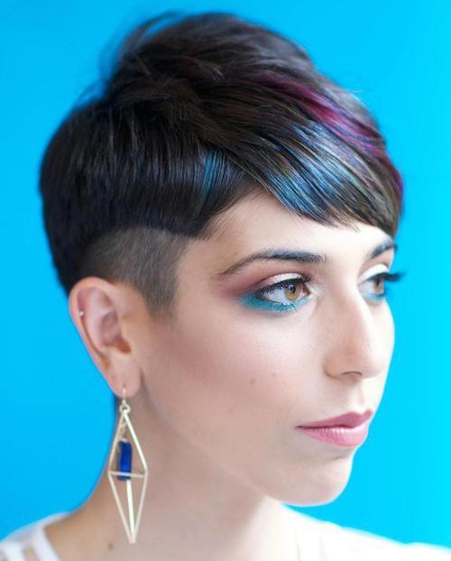 1 short sassy womens haircut with undercut and balayage