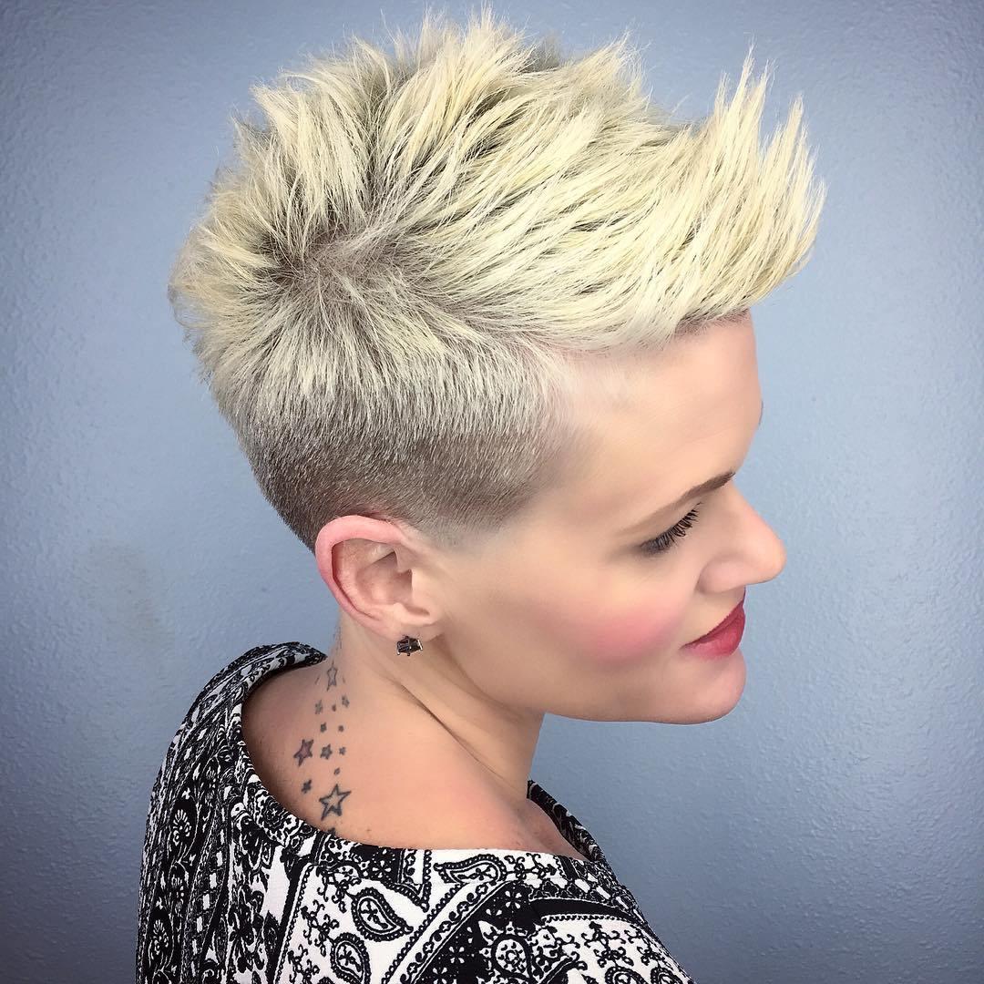 1 short spiky blonde pixie