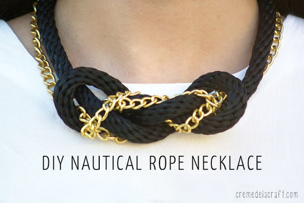 10 DIY Nautical Rope and Chain Knot Necklace