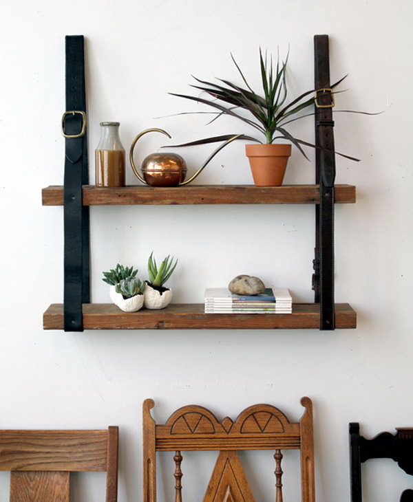 10 Leather and Wood Shelf