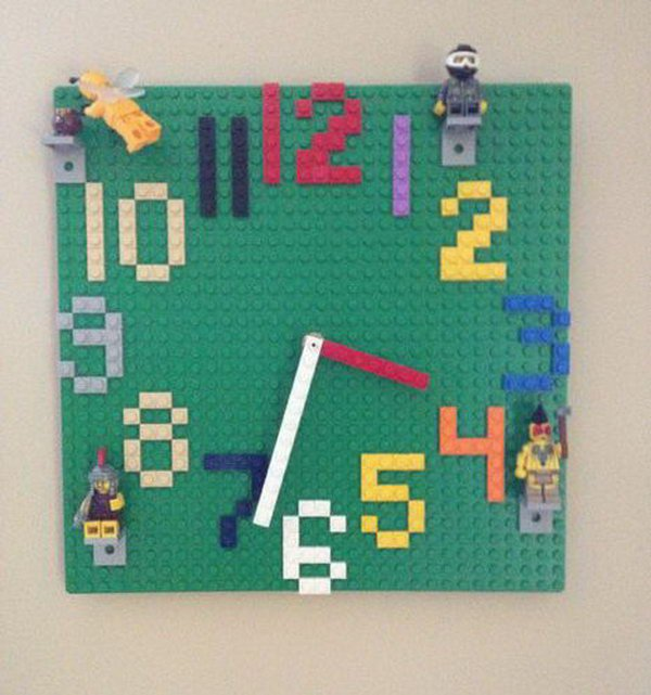 10 Lego Wall Clock