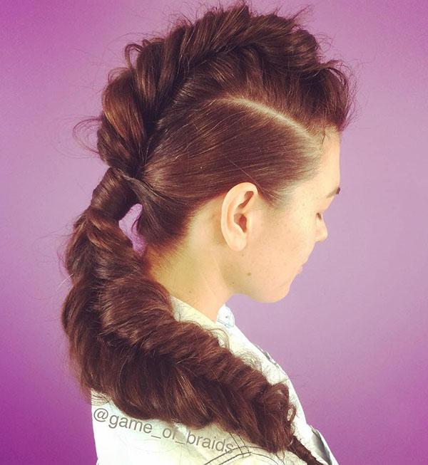 10 fishtail mohawk for long hair