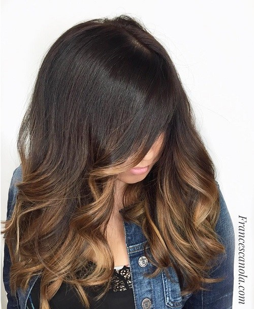 10 light brown face framing balayage hairstyle