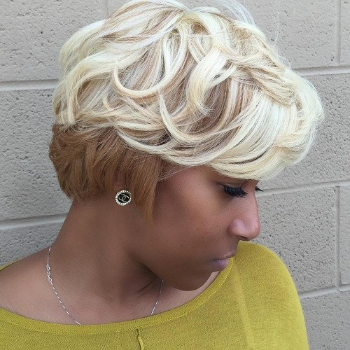 11 African American short blonde hairstyle