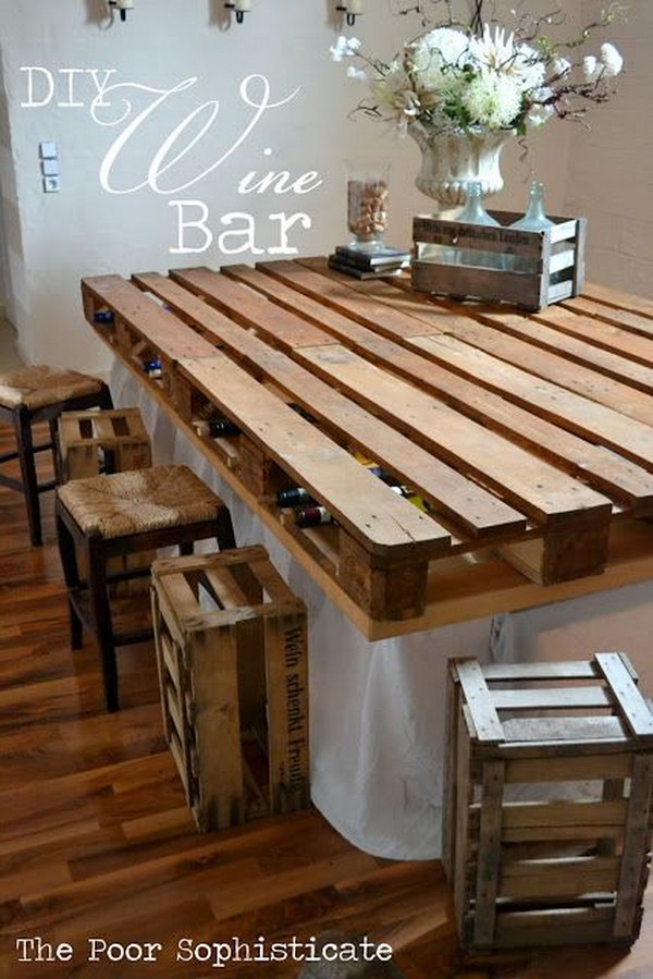 11 DIY Pallet Wine Bar