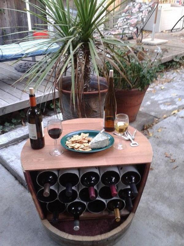 11 DIY Wine Barrel Wine Rack