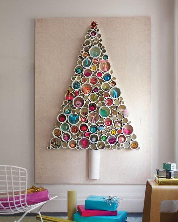 11 PVC Pipe Tree as Wall Art