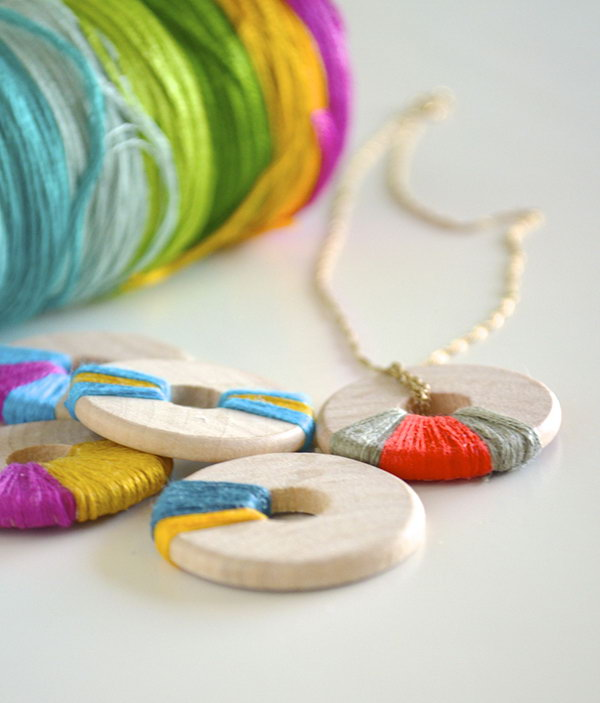 11 Wooden Ring Pendants