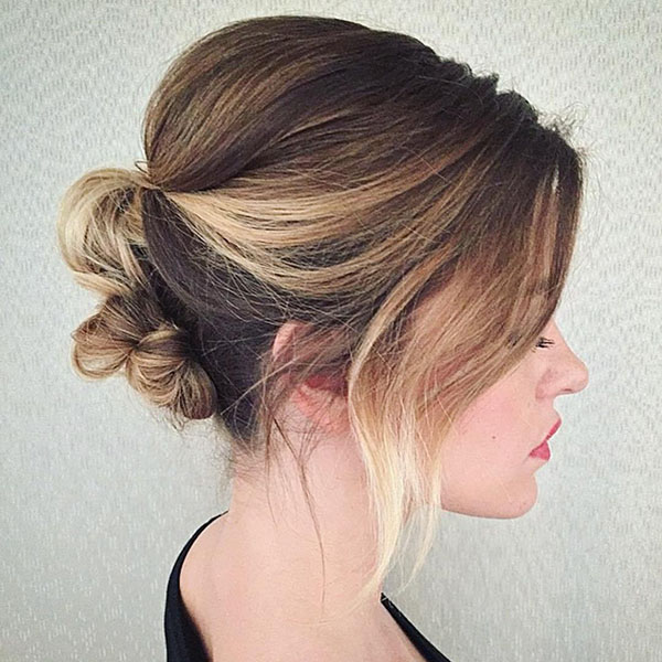 11 knotted updo for bob length hair