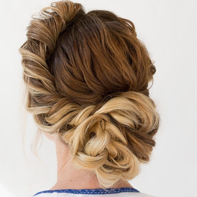 11 messy asymmetrical updo