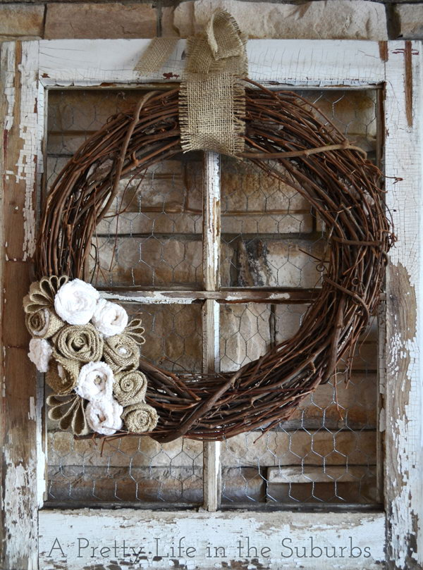 12 Lovely Autumn Wreath Made From Grapevine And Burlap