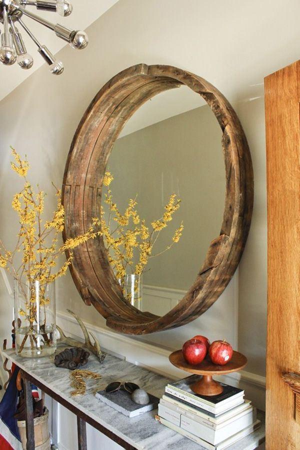 12 Wine Barrel Mirror