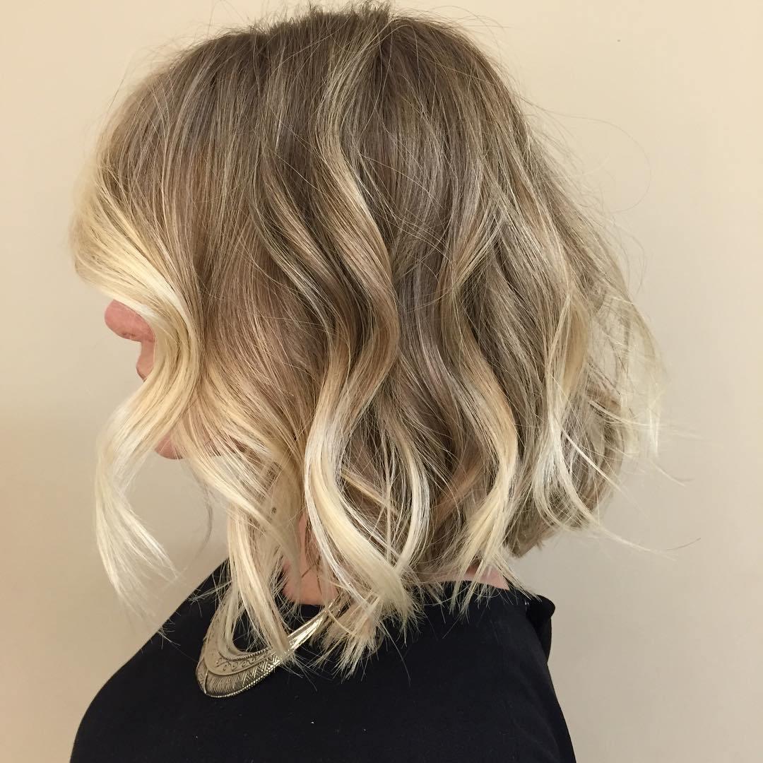 12 blonde balayage bob