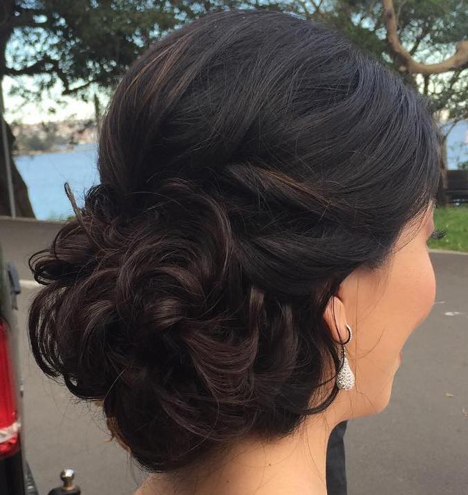 12 curly bun prom updo