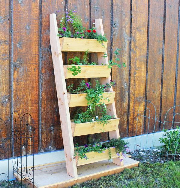 13 Cedar Vertical Tiered Ladder Garden Planter