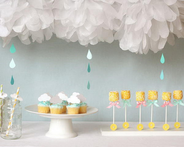 13 Rain Themed Baby Shower for Girl
