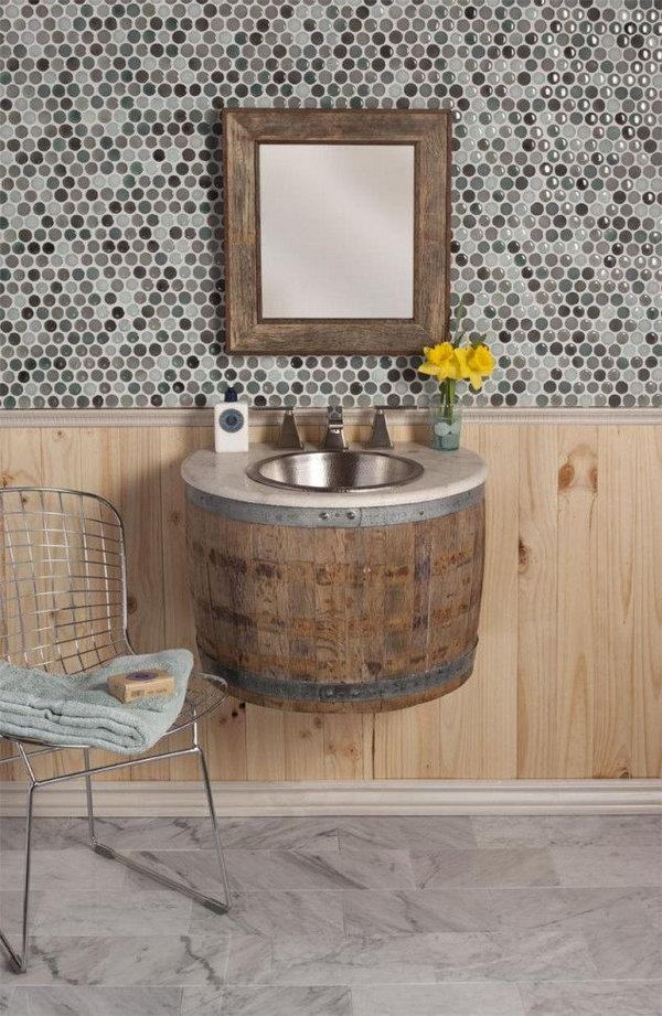13 Wine Barrel Bathroom Sink