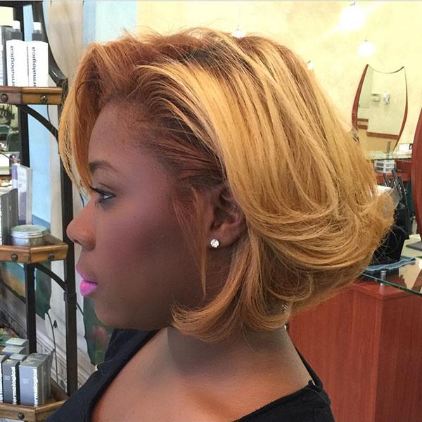 13 blonde bob for black women