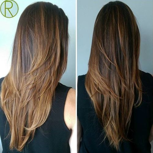 13 layered haircut for long straight hair