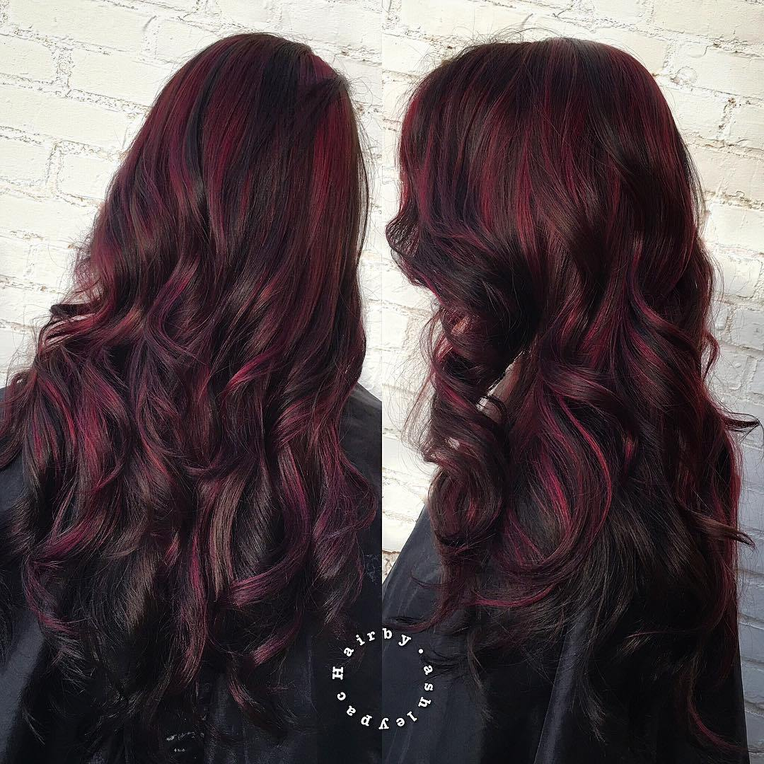 40 Shades Of Burgundy Hair Dark Burgundy Maroon Burgundy With Red