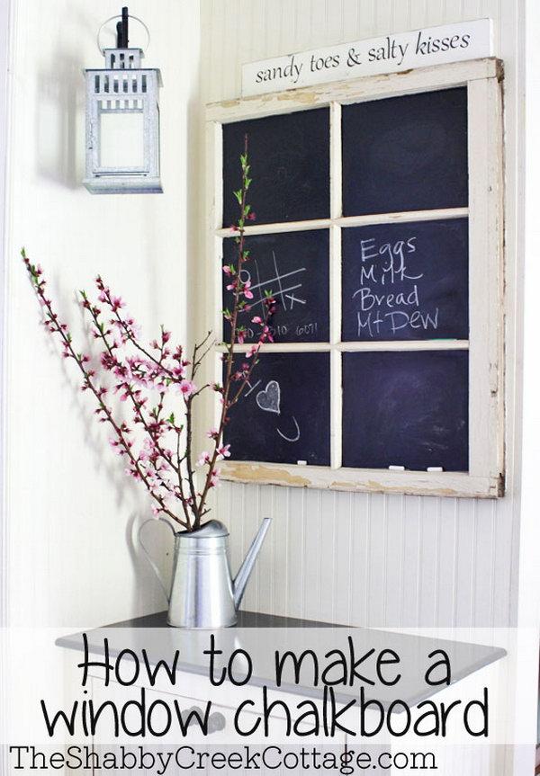 14 A Fancy Window Chalkboard