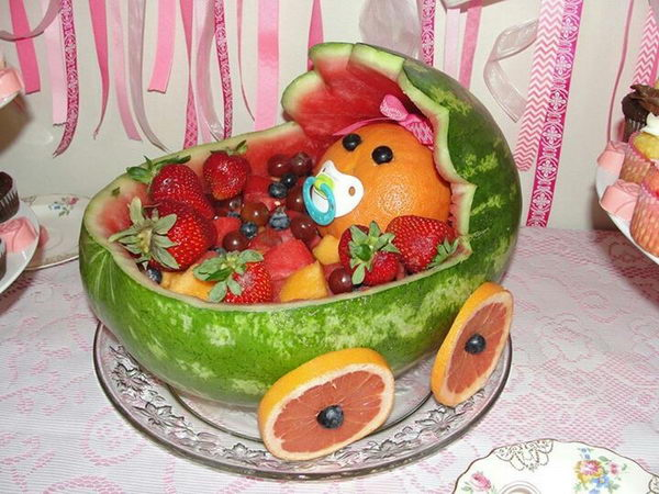 14 Watermelon Baby Carriage for Baby shower