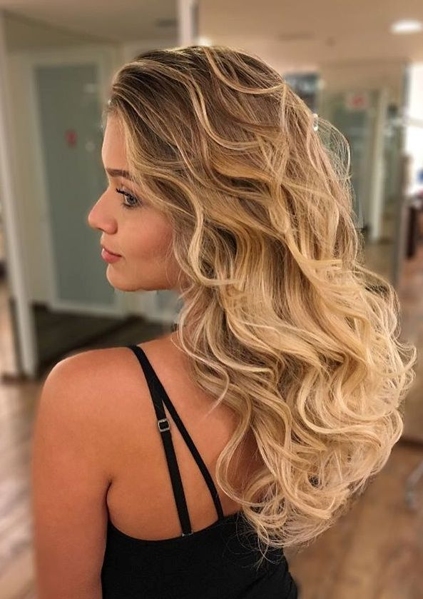 14 brown to caramel blonde curly ombre hair