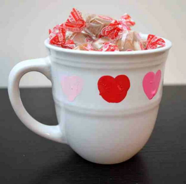 15 DIY Valentine Mug with Thumbprint Heart