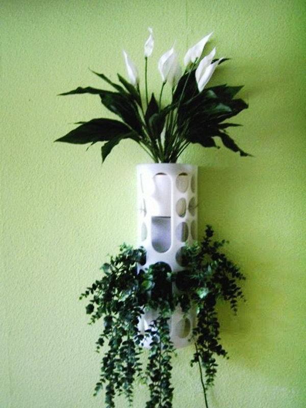 15 IKEA VARIERA Plastic Bag Holder Used as a Planter