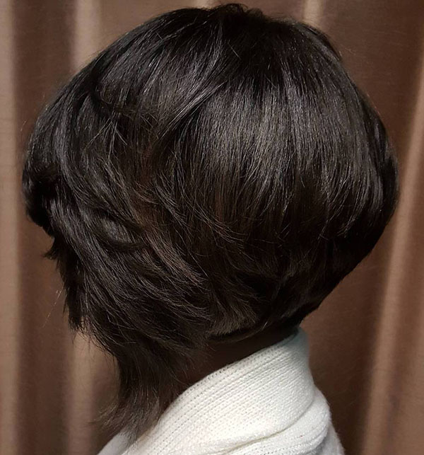 Stacked bob haircut for black women